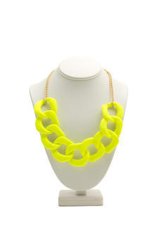 Chunky Matte Resin Chain Necklace