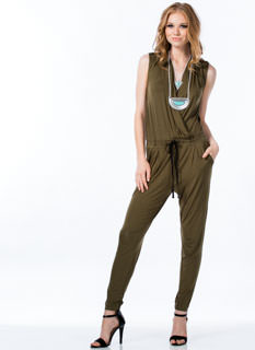 Surplice Drawstring Jumpsuit