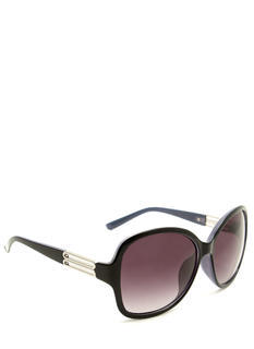 Oversized Metallic Accent Sunglasses