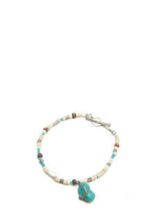 Beaded Faux Stone Toggle Bracelet