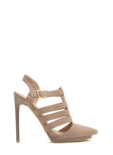 Get Your Point Across Strappy Heels