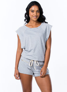 Don't Sweat It Drawstring Romper
