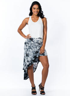 Tie-Dye For Knotted Layered Skirt