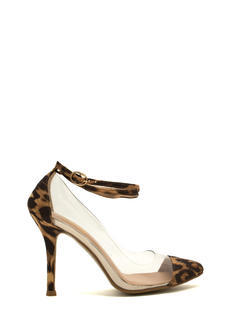 In The Clear Leopard Heels