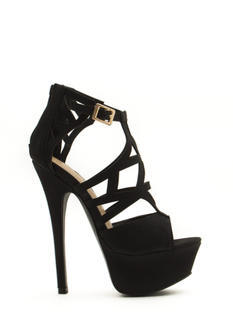 Taking Shape Strappy Cut-Out Heels