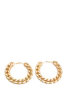 Smooth 'N Shiny Chain Hoop Earrings