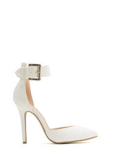 What Did U D'Orsay Faux Leather Heels