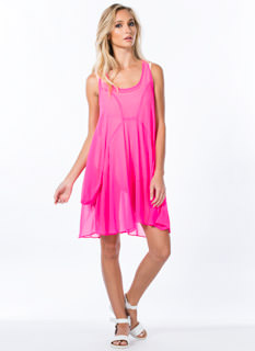 Flow-Getter Chiffon Shift Dress