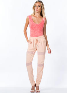 Mesh Around Drawstring Trousers