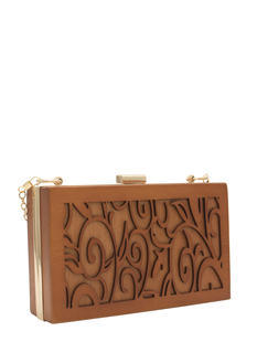 Carved Wooden Clutch