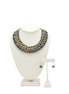 Iridescent Beaded Necklace Set