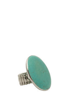 Oversized Faux Stone Disc Ring