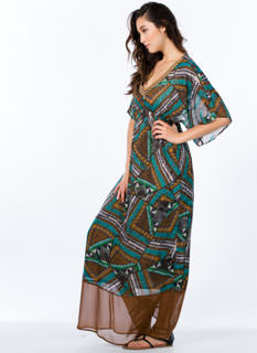 Tap Into Tapestry Tribal Print Maxi