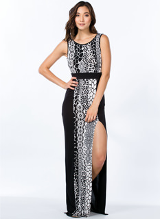 Into The Wild Mixed Print Panel Maxi
