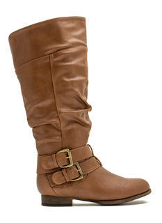 Slouchy Double Trouble Buckled Boots