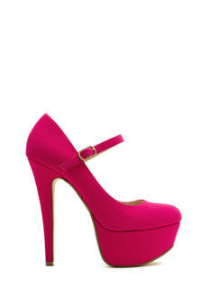 Return Of Mary Jane Faux Nubuck Heels