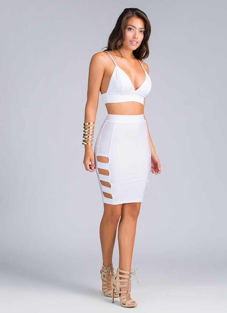 Banded Cut-Out Skirt