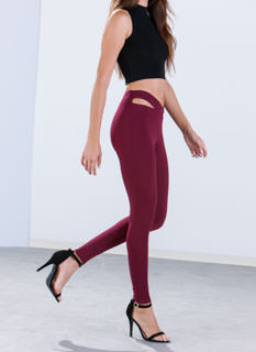 X Band Textured Skinny Pants