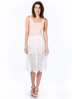 Sheer Perfection Lace Skirt