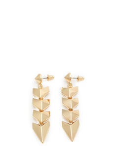 Spiky Cone Stud Chevron Earrings