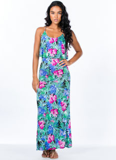 Tropical Nights Tiered Maxi Dress
