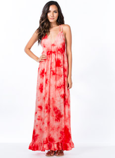 Ruffled Around The Edges Tie-Die Maxi