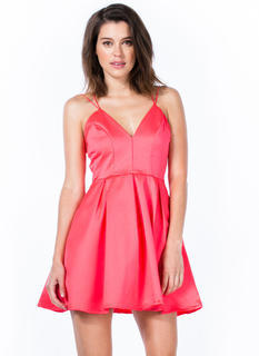Pleats As Punch Strappy Flared Dress
