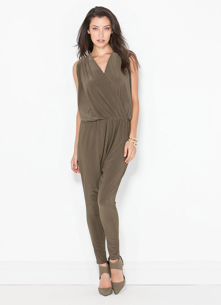 Game Changer Surplice Dolman Jumpsuit