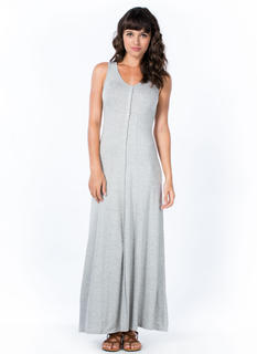 Button It Up Maxi Dress