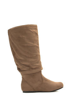 Adventure Time Faux Suede Slouch Boots