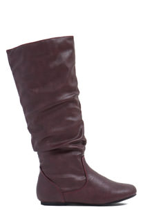 Adventure Time Faux Leather Slouch Boots