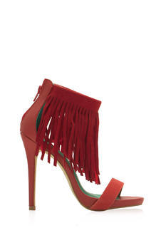 Fringe With Benefits Ankle Strap Heels