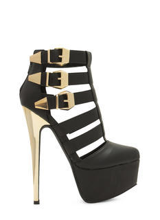 Laddered Tri-Buckle Heels