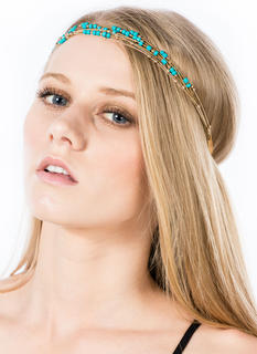 Stretchy Beaded Ball Chain Headband