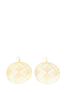 Oversized Geo Circle Plate Earrings