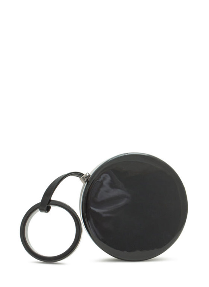 Two-Tone Round Resin Clutch