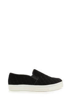 Quilt Trip Velvety Slip-On Sneakers
