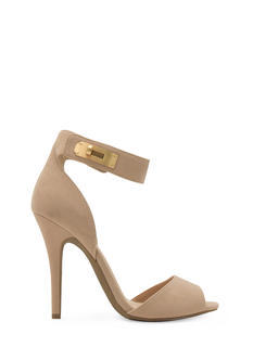 Twist Lock Me Up Ankle Strap Heels