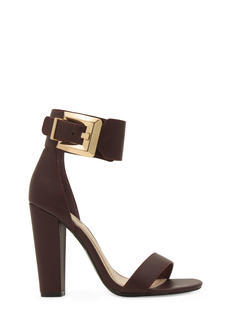 Buckle Up Ankle Cuff Chunky Heels