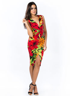 Twisted Tropical Thunder Dress