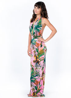 Tropic Nights Halter Maxi Dress