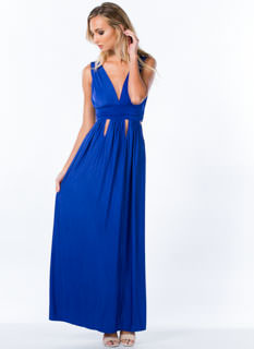 Goddess Of Chic Cut-Out Maxi Dress