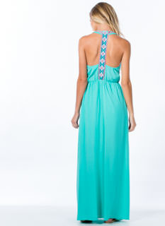 My Threads Embroidered T-Back Maxi