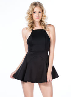 Panel Inset Crossback Dress