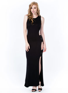 Open Air Lace Inset Maxi Dress