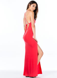 Strappy Go Lucky Open Back Maxi