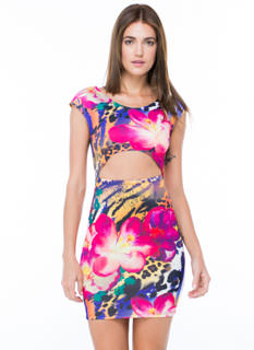 Floral 'N Fierce Bodycon Dress