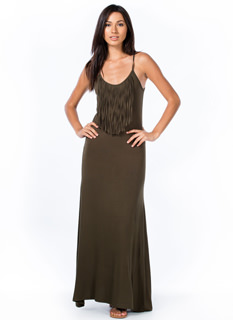 Fringe Benefits Maxi Dress