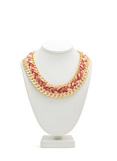 Braided Chain Link Trim Necklace