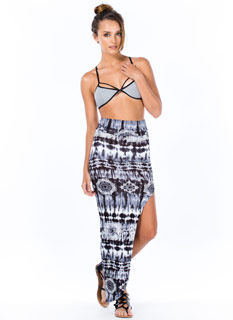 Radial-Active Tie-Dye Maxi Skirt